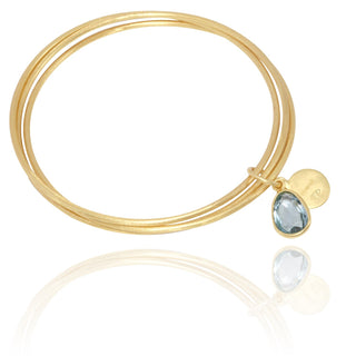 Vanessa Heaney - Blue Topaz Bangle Trio