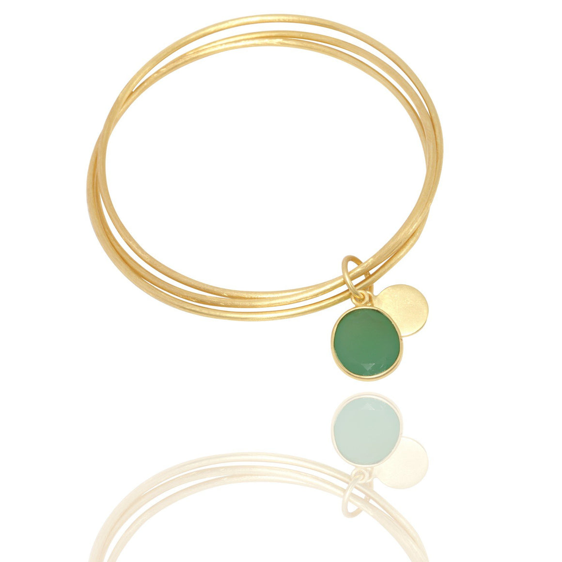 Vanessa Heaney - Crysoprase Bangle Trio