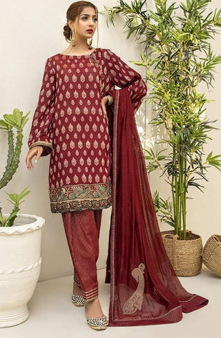 Nilofer Shahid - Cherry Wine - 3 PC