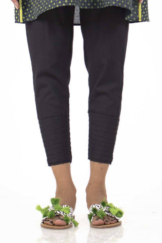 Ego - Black Zipped Pants - LW0196