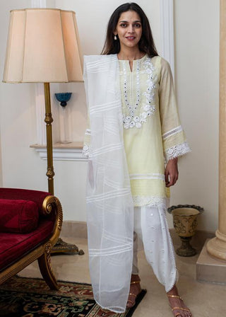 Maheen Ghani Taseer - Lime Yellow
