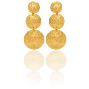 Vanessa Heaney - Moonscape Gold Bobble Earrings