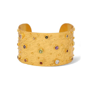 Vanessa Heaney - Moonscape Gold Cuff With Multicoloured, Semi-Precious Gemstones