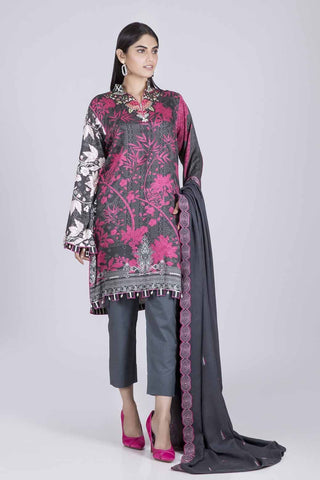 Bonanza Satrangi - BLACK HEATHER - 2 PC - MWC92P004