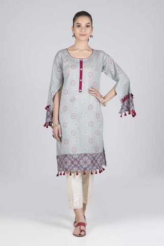 Bonanza Satrangi - Grey Floral Delight - 1 PC