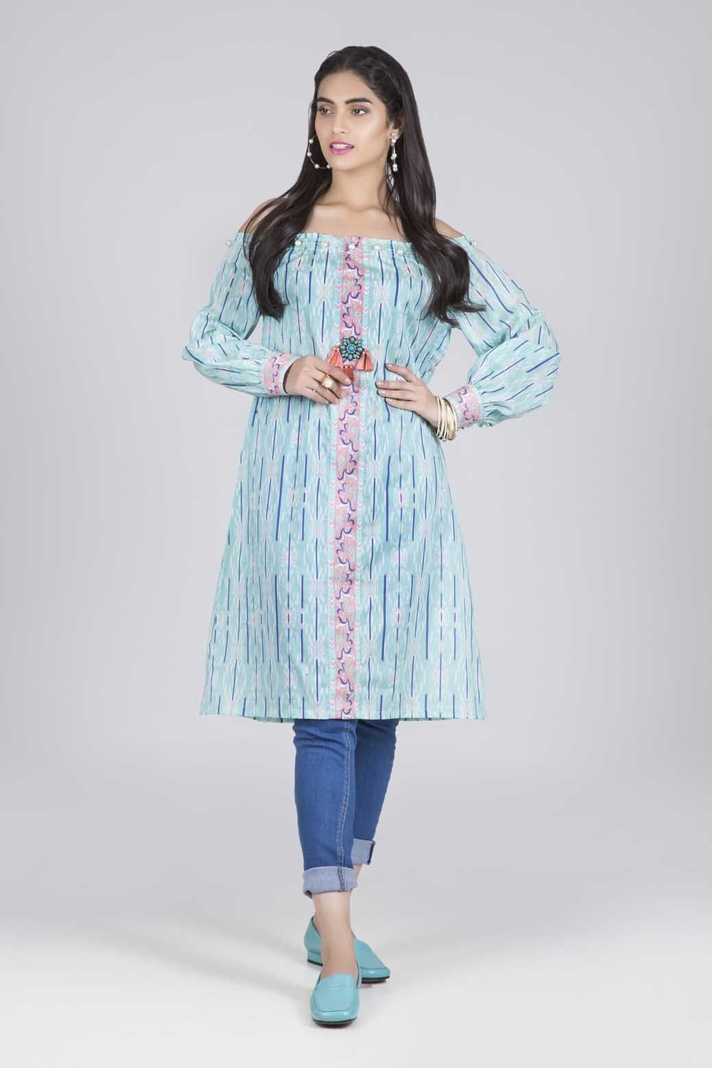 Bonanza Satrangi - Aqua Chintz - 1 PC