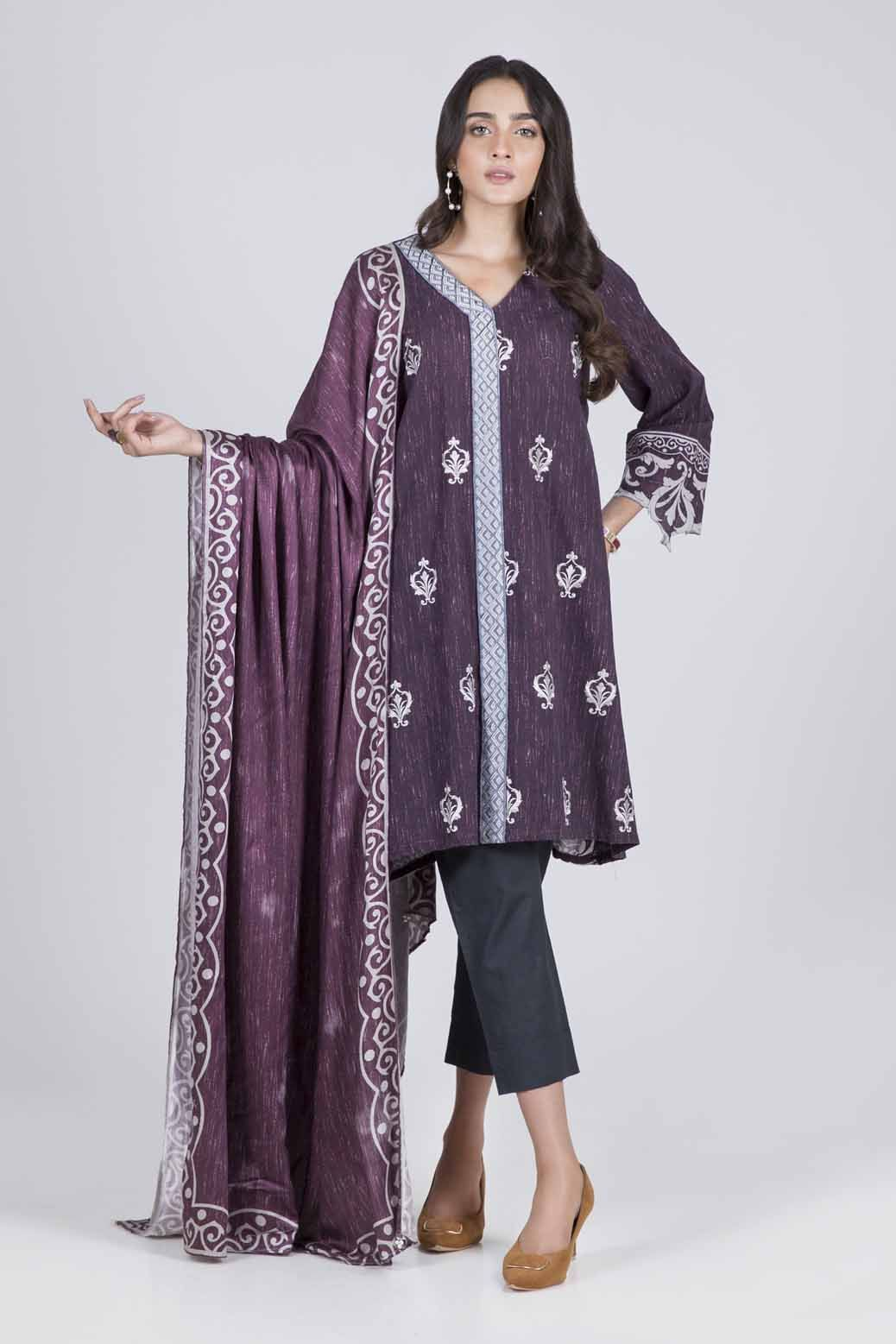 Bonanza Satrangi - PURPLE RUSTIC LOOK A - 3 PC - RWT93P004A