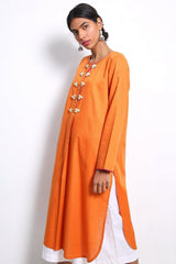Generation - Orange Summer Basis Kurta - 1 PC