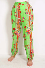 Generation - Green Pyjama Party Comfy Straight Cut Pants