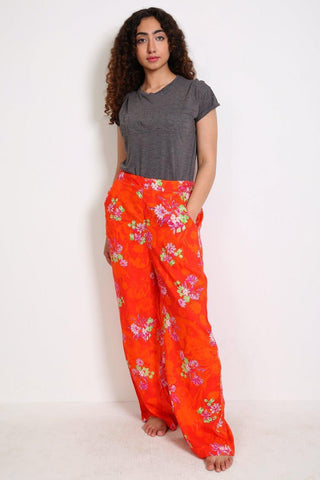 Generation - Orange Pyjama Party Relaxed Flared Pants