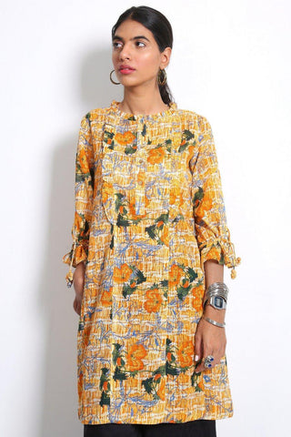 Generation - Orange Ocean Flora Kurta - 1 PC