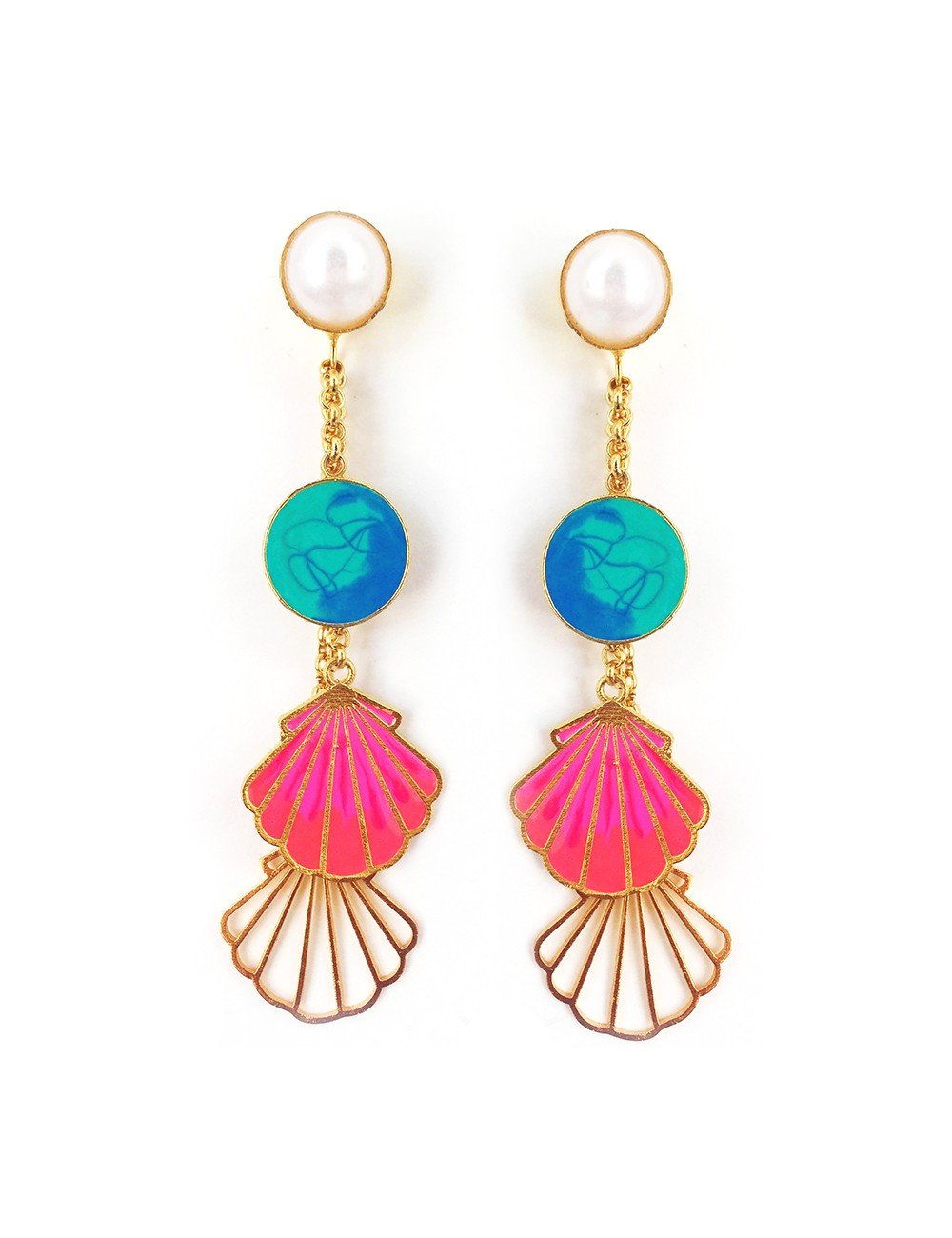 Red Dot Jewels - Sea Shell Earrings