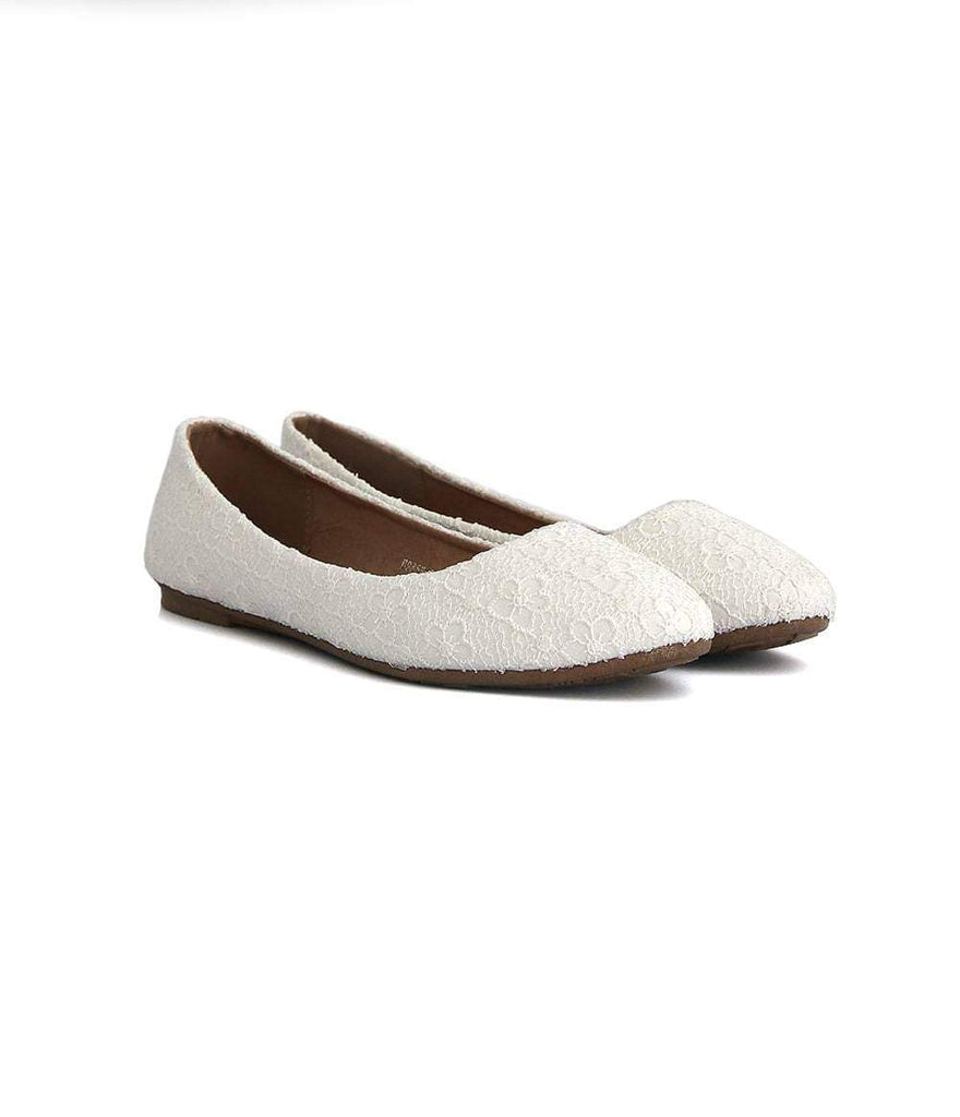 Mochi Cordwainers - White Canary Pumps