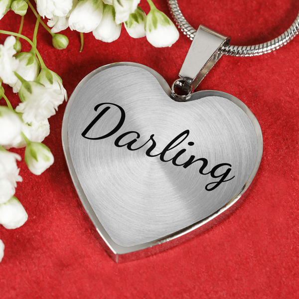 darling necklace bangle with heart pendant june august