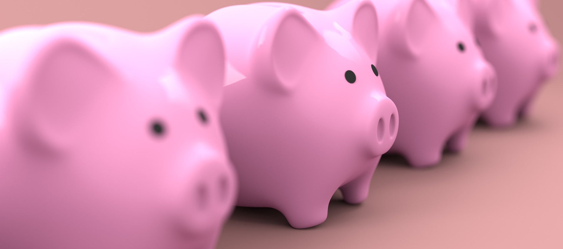 Piggy banks, saving money with financing