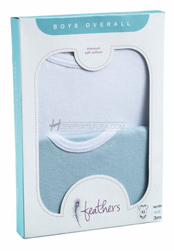 feathers-baby-onesies-short-sleeve-boy-blue-white-solid-undershirt