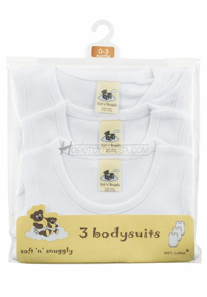 Soft 'N' Snuggly baby sleeveless bodysuits -SOFT 'N' SNUGGLY-ONESIES- Hosierama