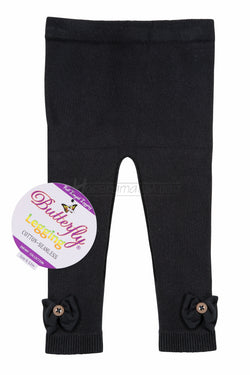 bows_button_butterfly_cotton_leggings_full length_black_hosierama