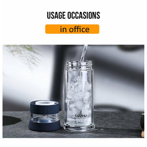 Portable Bottle Glass Tea Infuser