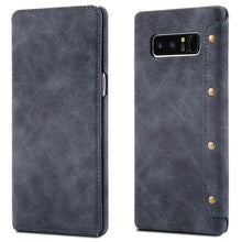 Luxury Genuine Leather Wallet Case For Samsung Note 8