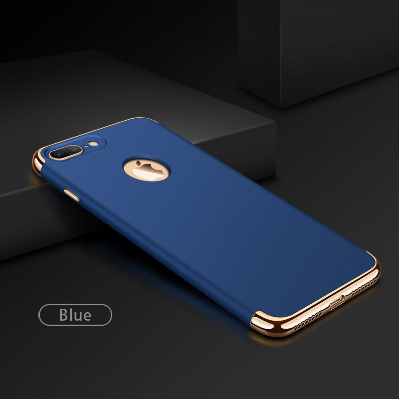 Premium 3-in-1 Frosted Shockproof Plating Case for iPhone 7 / 7 Plus
