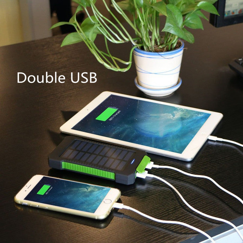 Waterproof Solar Charger Power Bank with LED Light