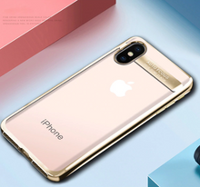 Ultra Thin Transparent Plating Case For iPhone X