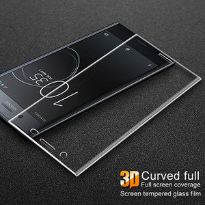 3D Curved Full Cover Tempered Glass Screen Protector Film For Sony Xperia XZ1