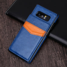 Luxury Genuine Leather Wallet Case For Note 8
