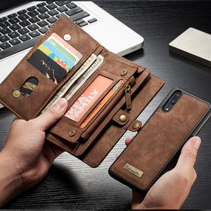 Luxury Genuine Leather Wallet Case For Huawei P20 / P20 Pro