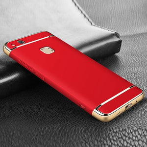 Premium 3-in-1 Frosted Shockproof Plating Case for Huawei P10 Lite Phone