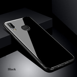 Luxury Tempered Glass Case For Huawei P20 Pro / P20 / P20 Lite