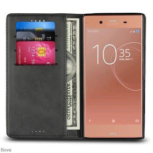 Fashion Flip Card Holder Leather Wallet For Sony Xperia XZ Premium