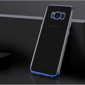 Ultra thin transparent plating case for Samsung S8/S8+