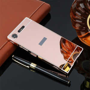Luxury Mirror Case For Sony Xperia XZ1
