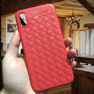 Luxury Weave Grid Case For iPhone X