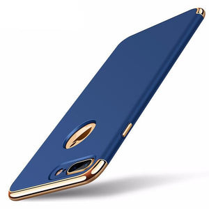 Premium 3-in-1 Frosted Shockproof Plating Case for iPhone 7 And 7 Plus