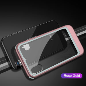 Luxury Transparent Hybrid Case For iPhone X