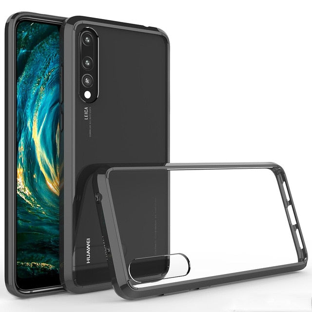 Luxury Clear Plating Hard Case For Huawei P20 Pro
