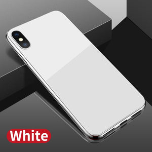 6D Tempered Glass TPU Edge Back Cover For iPhone X