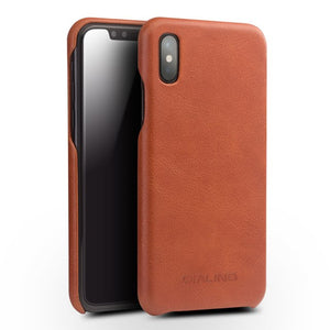 Luxury Genuine Leather Back Case For iPhone X