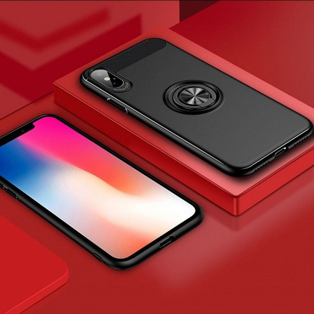 Ultra Magnetic Shockproof Ring Case For iPhone X