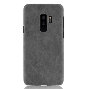 Luxury Leather Hard Back Cover For Samsung Galaxy S9 Plus