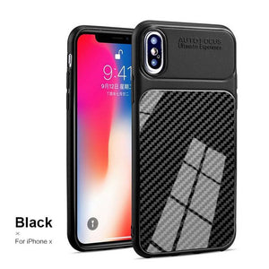 Fashion Carbon Fiber Case For iPhone X