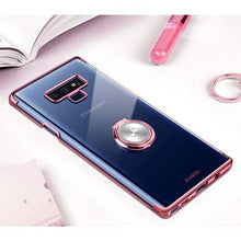 Luxury Clear Ring Holder Case for Samsung Note 9
