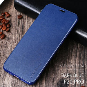Luxury Soft Leather Flip Case For Huawei P20 Pro