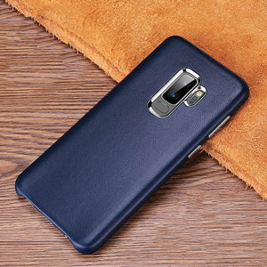 Luxury Soft Genuine Leather Case For Samsung Galaxy S9 Plus