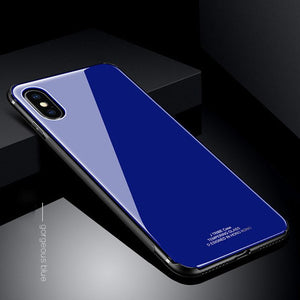 Luxury Tempered Glass Case For iPhone XS / XS Max