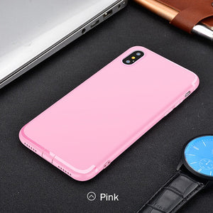 Anti-knock Soft Silicone TPU Case For iPhone Xs / Xs Max