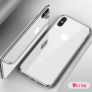 Fashion Tempered Glass Case For iPhone's